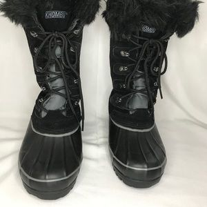 Khombu Black Nordic 2 Winter Boots, Size 6